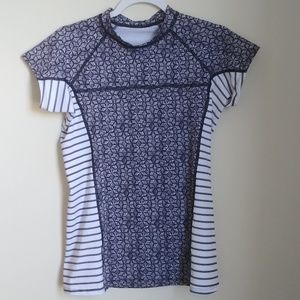 Patagonnia Striped Patterned Slim Fit Top Sz M